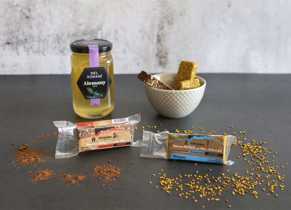 Barritas energéticas con miel 100% naturales para deportistas