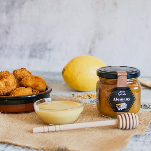 Salsa con miel con polen, jalea real y propóleos Alemany