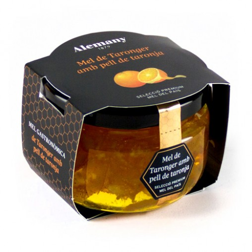 Miel de naranjo con piel de naranja 150g | Mieles Gourmet Alemany