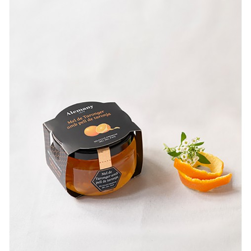 Miel de azahar con piel de naranja Alemany