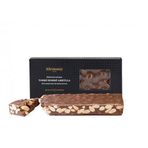Torró Xocolata Ametlla 300g | Torrons Artesans Alemany
