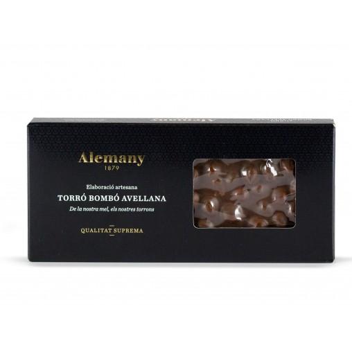 Torró de Xocolata amb Avellanes 300g | Comprar Torrons Alemany