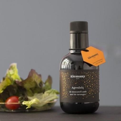 Vinagreta per amanides Alemany | Agredolç de moscatell amb mel de taronger