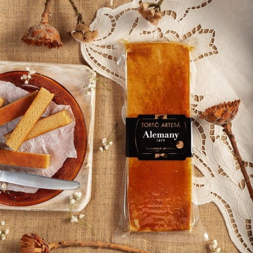 Turrón artesano yema tostada 300g | Alemany Online