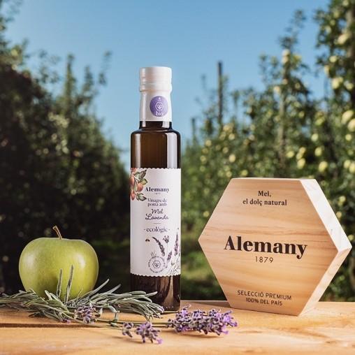 Vinagre de manzana con la madre sin sulfitos con miel de lavanda eco   Alemany
