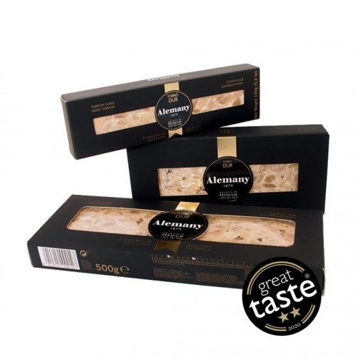 Turrón duro artesano | Lote de 3 | Great Taste Awards