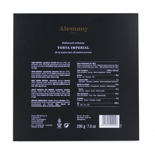 Torró Torta Imperial Alemany 200g | Informació Nutricional