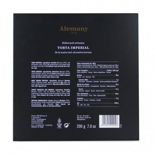 Turrón Torta Imperial Alemany 200g | Información Nutricional