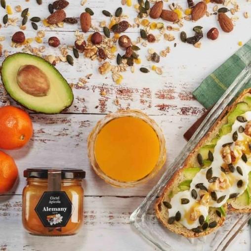 Miel con polen, jalea real y propóleo 250g   Desayuno saludable