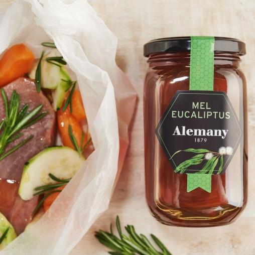 Peix a la papillote amb verdures i mel d'eucaliptus Alemany | Menjar Saludable