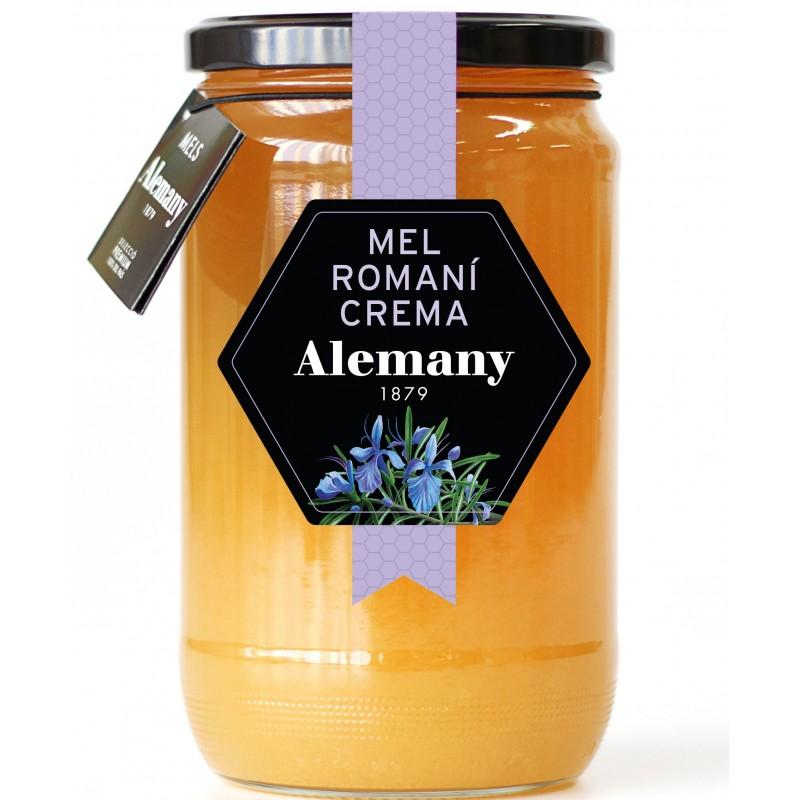 Miel de romero crema 980g Alemany   Miel de romero cruda 980g Alemany