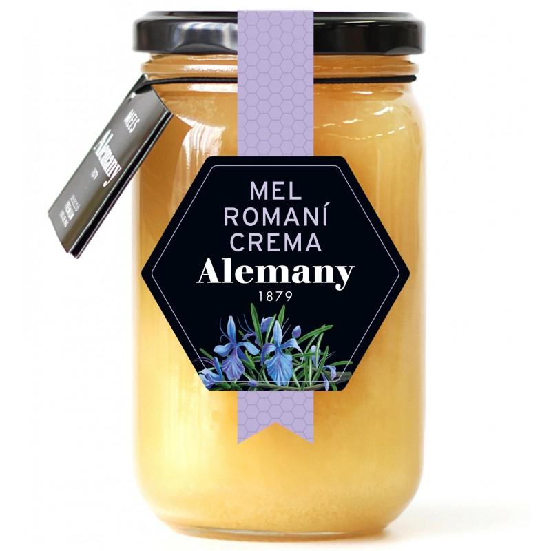 Miel de romero crema 500g Alemany   Miel de romero cruda 500g Alemany