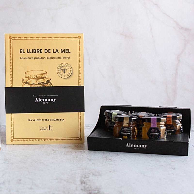 Lote 'Caja cata de mieles' y 'El llibre de la mel' (catalán) | Alemany