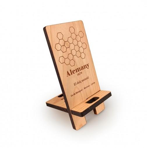 Suport de mòbil en fusta desmuntable Alemany