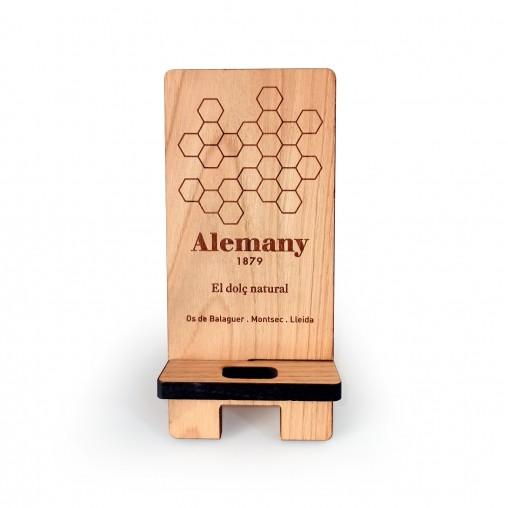 Suport mòbil en fusta fabricat per Ilersis | Alemany