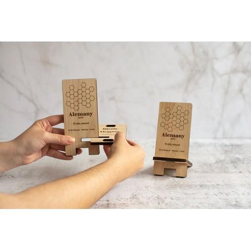 Soporte madera para teléfono móvil   Instrucciones de montaje   Alemany