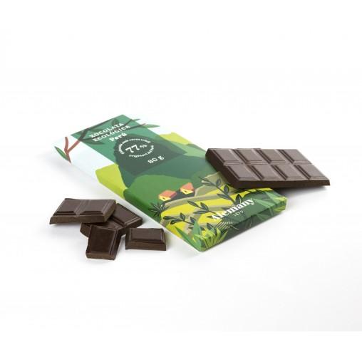 Chocolate Negro Ecológico 77% Vegano 80g | Alemany.com