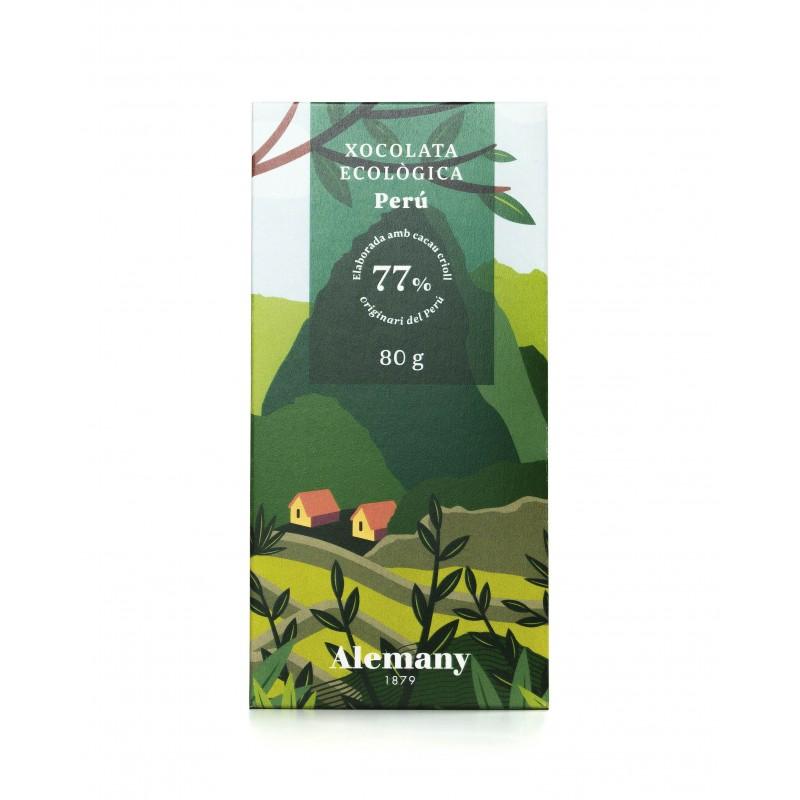 Chocolate Negro Ecológico 77% Cacao de Perú  80g | Alemany