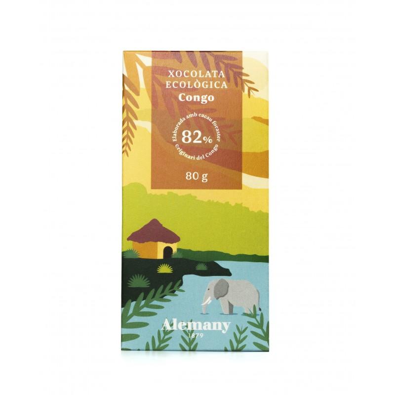 Chocolate Negro Ecológico 82% cacao del Congo | Alemany 1879