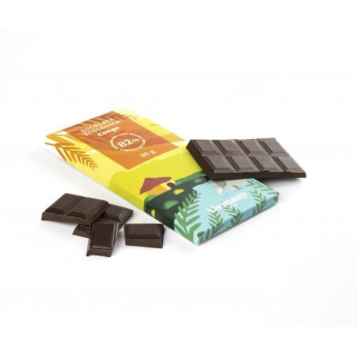 Rajola Xocolata negra Ecològica 82% cacau del Congo 80g | Alemany 1879