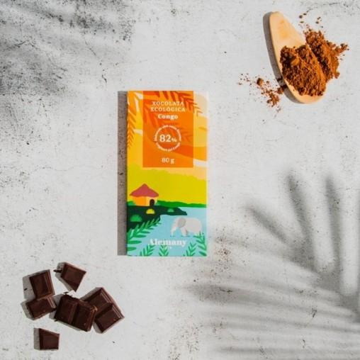 Xocolata negra Ecològica 82% cacau del Congo | Alemany