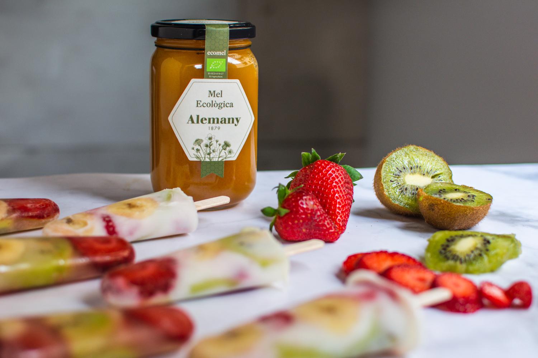 Receta Helados de fruta con miel ecológica Alemany
