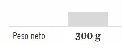 PESO NETO: 300g