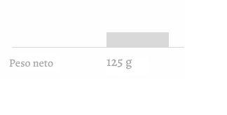Peso neto 125g