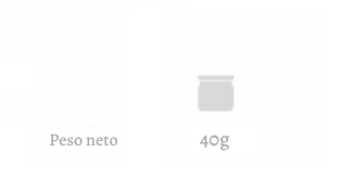 Peso neto 40g | Alemany Online
