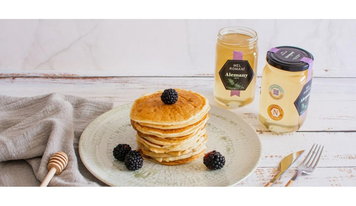 Pancakes con miel de romero