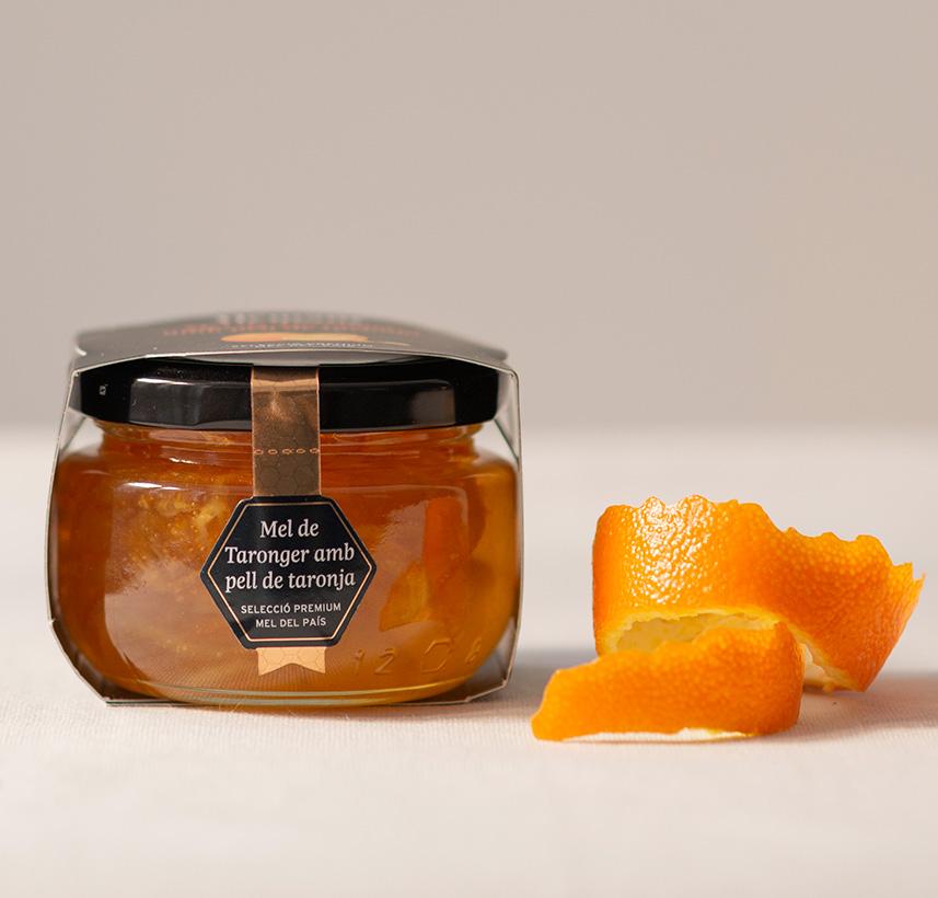 Pasta de full amb fruita i mel de taronger amb pell de taronja | Receptes